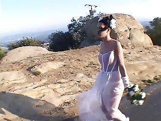 Hot & horny bride in DP action