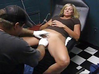 Sexy Slave Slut Gets Her Clit Hood Pierced