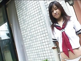 FUJINAGA Aoi takes off school uniform