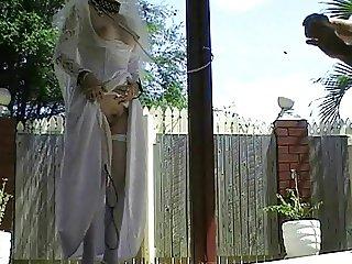 SHELLEY THE WEDDING BRIDE IS A FUCK WHORE SLUT