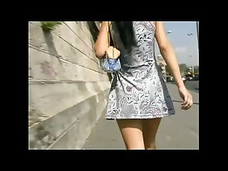 Brunette Flashes and Fucks in Public Place BVR