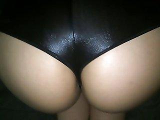 Hot girl's ass in shiny shorts v2