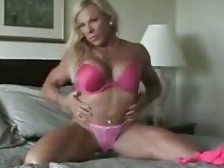 Sexy Blonde Muscle Goddess