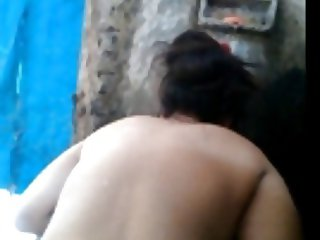 Bangla desi Big ass Aunty hidden bath by not nephew