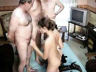 French Daddy Gangbang 01
