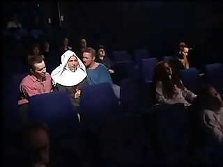 German Nun fucked in Cinema