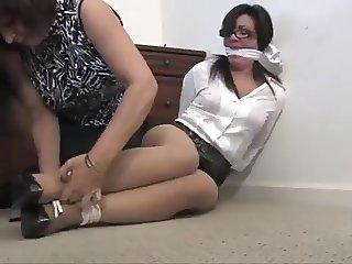 real MILF Secretary bound gagged