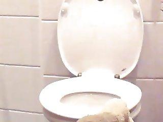 Voyeur Woman on Toilet