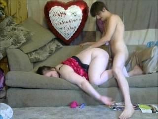 Sexy Mom takes son virginity doggy style with a creampie to mommy pussy
