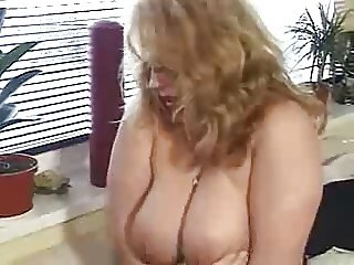 Horny german BBW mature fingered and fucked