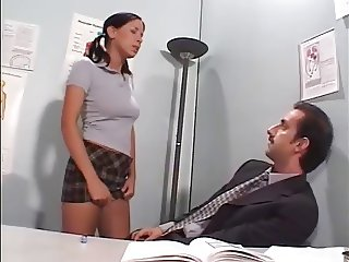Horny Schoolgirl gets her Teacher to Fuck Her