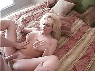 Blonde gets fucked in bedroom
