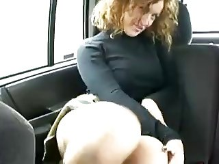Milf teasing in car