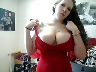 Big College Tits in Red Dress WebCam