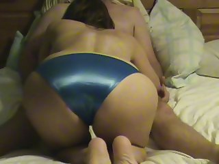 Blue Satin BJ