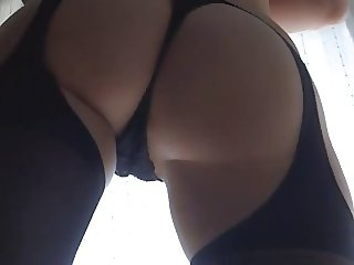 sexy dominatrix shoes and stockings showing her ass