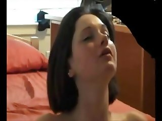 Young Jennifer Lawrence look-a-like begs for a cum facial