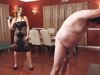 Hard singletail whipping by mistress Jennifer