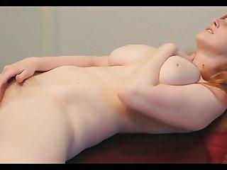 homemade, stunning bigboobed redhead masturbates