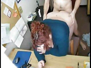 My Fat BBW Horny Secretary riding my cock and loves my cum