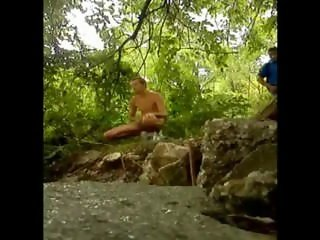 Caught by someone in the woods