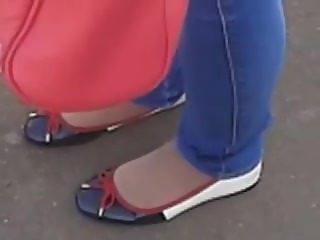 sexy flats and nylon socks