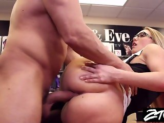 AJ Applegate secretary takes it up the ass from her boss
