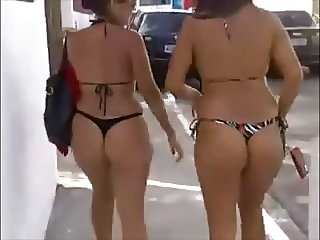 2 Great Latin Milfs Thong Bikini Asses