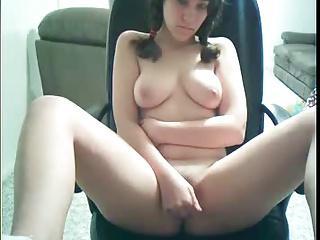 Pigtails girl on cam