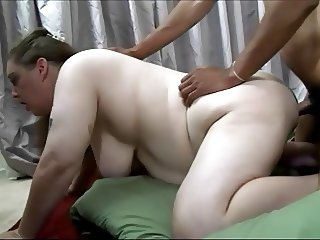 Pregnant Chubby Pig sucks and fucks
