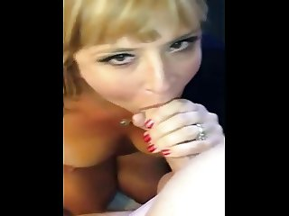 At the hotel, swallows cum