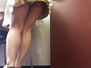 MILF Upskirt at Work