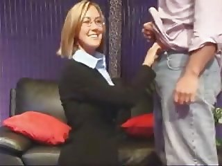 Milf With Glasses - Facial Cumshot