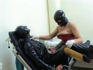 Prostate Milking LAtex Femdom