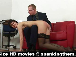 Secretary - spanked and humiliated
