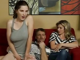 Dad Fucks not Masturbating Daughter-daddi