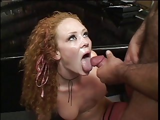 Audrey Hollander takes a big one between her legs