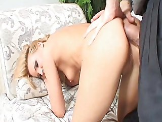 Adorable chick in painful anal