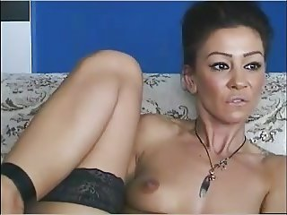 Horny Tatooed Milf Fingers in Pussy