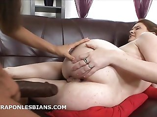 Kitty brutally anals submissive Mary with huge strapon