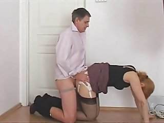 jerking on secretary panty ass