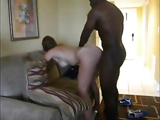 Mature wife fucking hard in doggy style by black dick