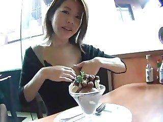 Japanese cake with milk