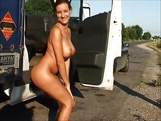 Public tits show