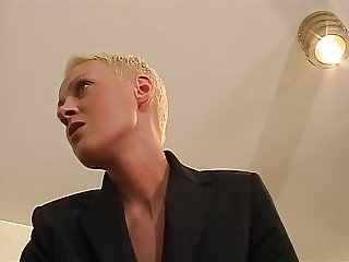 Short Hair Blonde Fraulein Boss