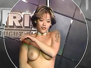 Short Hair Asian Double Striptease
