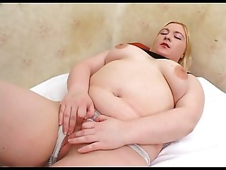 Horny Fat Chubby Teen with shaven Pussy getting fucked-1