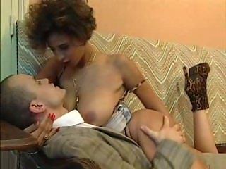 Seduced by a curvy European brunette