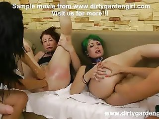 Fourd extreme girls anal prolapse, strapon and fisting orgy