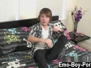 Military gay blow job ejaculation Cute new emo boy Devon embarks his